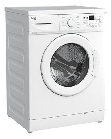 Beko WML 51231 E Waschmaschine Frontlader / A+/ 1200 UpM / 0.688 kWh / 5 kg / Weiß / 33 Liter / Display mit Startzeitvorwahl und Restzeitanzeige / Großes Programmauswahl -
