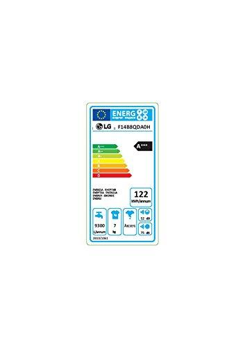 LG Electronics F 14B8 QDA0H Waschmaschine FL / A+++ / 122 kWh/Jahr / 1400 UpM / 7 kg / 9300 L/Jahr / 6 unterschiedliche Trommelbewegungen / weiß -