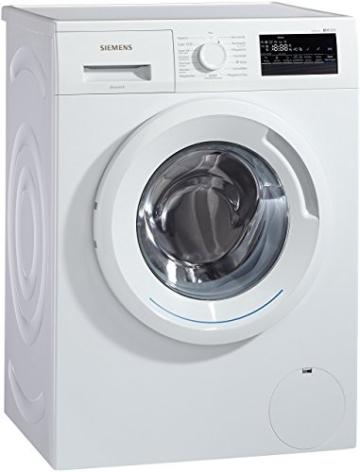 Siemens iQ300 WM14N2A0 Waschmaschine Frontlader / A+++ / 157 kWh/Jahr / 1390 UpM / 7 kg / Weiß / Großes Display mit Endezeitvorwahl / WaterPerfect -