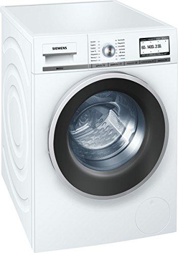 Siemens iQ800 WM14Y74D iSensoric Premium-Waschmaschine / A+++ / 1400 UpM / 8 kg / Weiß / VarioPerfect / Super15 / Antiflecken-System -